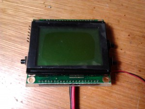 LCD assembled onto the PCB