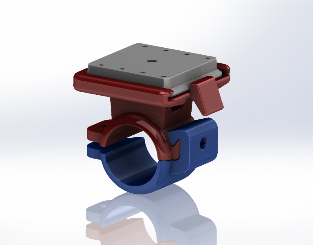 3d model on Solidworks screen