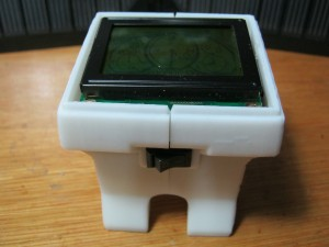 with the open lid  LCD is visible inside
