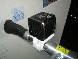 Accesory on my Strida Bike, holding the cube mp3 player.