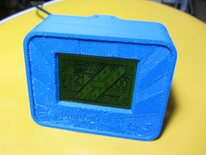 3d printed and assembled clock, working.
