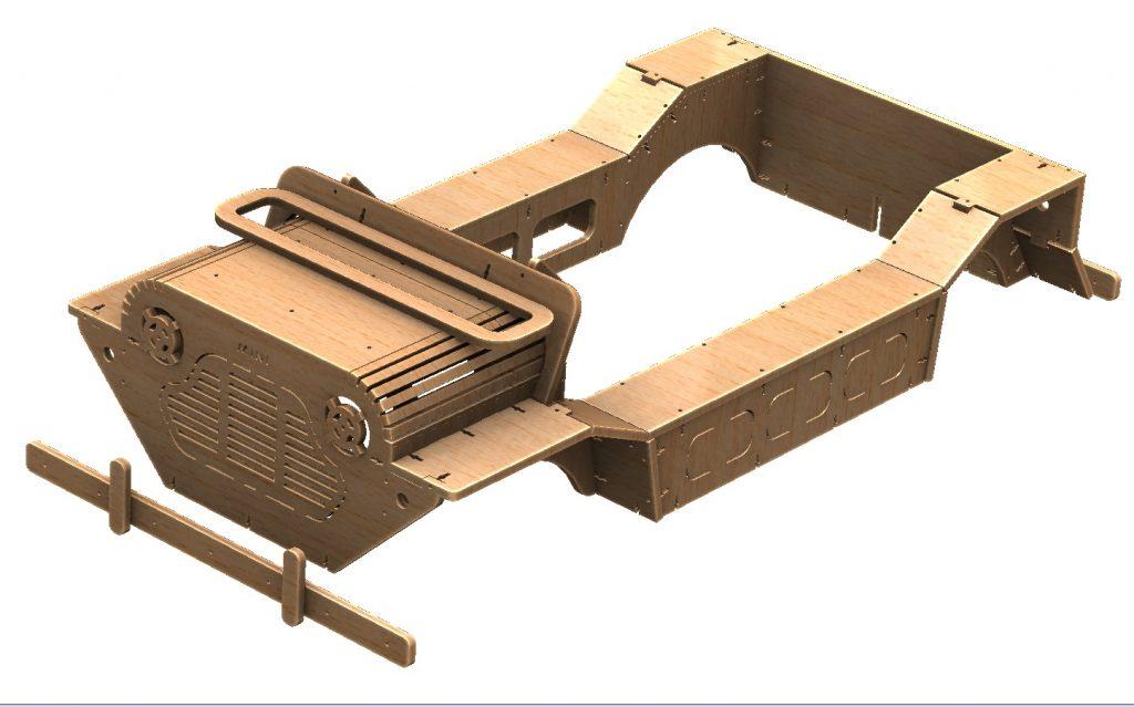 Mini Moke Tot Rod Kids Car Bodyshell Laser Cut Plywood Endtas